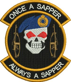 SKULL/SLR Rifle Embroidered Badge